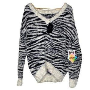 Sweet & Sinful medium zebra sweater